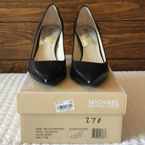 Michael Kors Flex Leather Pump Classic Heel